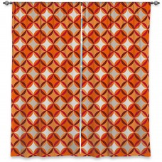 DiaNocheDesigns Geometric Room Darkening Rod Pocket Curtain Panels DNOC2373