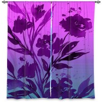 DiaNocheDesigns Nature/Floral Room Darkening Rod Pocket Curtain Panels DNOC2384