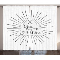 East Urban Home Tribal Boho Quotes Decor Graphic Print and Text Room Darkening Rod Pocket Curtain Panels ESTN2489