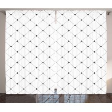 Ivy Bronx Luis Fleur De Lis Graphic Print Text Semi-Sheer Rod Pocket Curtain Panels IVYB2569