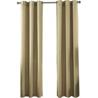 Ardor Home Solid Semi-Sheer Thermal Grommet Curtain Panels ADRH1018