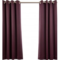 Half Price Drapes Plush Solid Blackout Thermal Grommet Curtain Panels XKQ1277