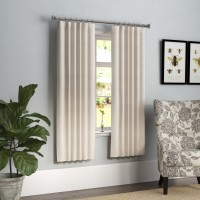Laurel Foundry Modern Farmhouse Jolene Solid Blackout Thermal Rod Pocket Single Curtain Panel LRFY8149