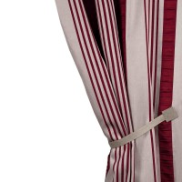Madura Castille Striped Blackout Pinch Pleat Single Curtain Panel MAUS2907