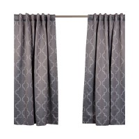 Three Posts Grouse Geometric Blackout Thermal Rod Pocket Single Curtain Panel THRE4363