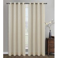 Urbanest Cosmo Solid Semi-Sheer Grommet Curtain Panels UBNT1490
