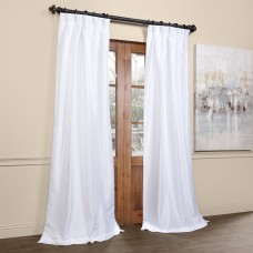 Willa Arlo Interiors Forbell Solid Blackout Vintage Textured Faux Dupioni Thermal Pinch Pleat Single Curtain Panel WRLO7586