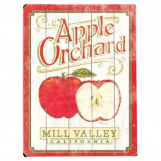 Artehouse LLC Personalized Apple Orchard Vintage Advertisement Multi-Piece Image on Wood QVH2379