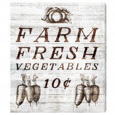 Gracie Oaks 'Farm Fresh Vegetables' Vintage Advertisement on Wrapped Canvas GRKS6596