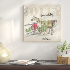 The Holiday Aisle 'Country Christmas' Graphic Art on Wrapped Canvas THDA1035