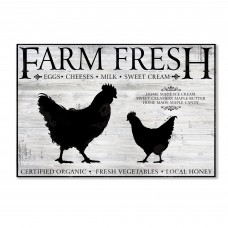 Trademark Art 'Farm Fresh' Vintage Advertisement on Wrapped Canvas HYT78470