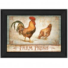 Trendy Decor 4U 'Farm Fresh' Framed Graphic Art Print MLLW1084