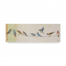 Charlton Home 'Birds on Wire' Acrylic Painting Print on Wrapped Canvas CHRH7306