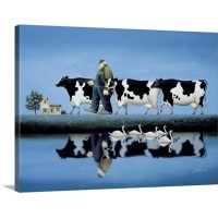 Great Big Canvas 'Delta Cows' Lowell Herrero Wall Art Print GRWO5722