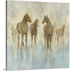 Great Big Canvas 'Horses' by Randy Hibberd Painting Print GRNG5093