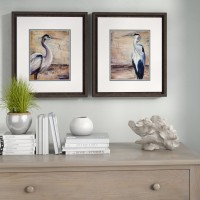 Highland Dunes 'Shore Birds' 2 Piece Framed Painting Print Set HLDS1937