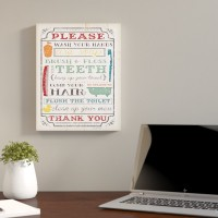 Andover Mills 'Brady Wash Your Hands Typography Bathroom' Framed Textual Art on Wood ADML8118