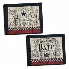 August Grove 'Contemporary Bathroom and Hot Bath' 2 Piece Acrylic Painting Print Set on GHGH1688