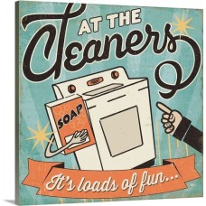 Great Big Canvas 'The Cleaners II Vintage Advertisement GRNG4059