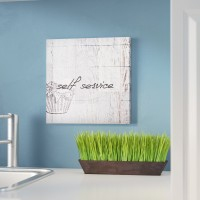 Laurel Foundry Modern Farmhouse Home Decor Self Service Laundry Room Graphic Art Print On Wood LFMF1402