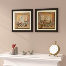 Red Barrel Studio 'Spiced Bath' 2 Piece Framed Acrylic Painting Print Set RDBT4106