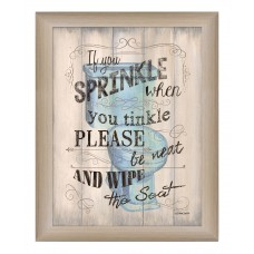 Trendy Decor 4U 'If You Sprinkle' Framed Textual Art HEND1460