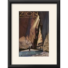 Winston Porter 'Zion National Park - the Narrows, c.2009' Framed Graphic Art Print WNSP6733