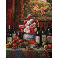 Astoria Grand 'Wine And Floral 4' Graphic Art Print ARGD3900
