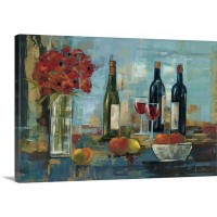 Canvas On Demand 'Fruit and Wine' by Silvia Vassileva Painting Print on Canvas CAOD5706