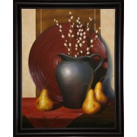 Charlton Home 'Still Life with Black Vase' Graphic Art Print FSUN2283