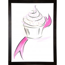 East Urban Home 'Cupcake-1' Print ESUM1291