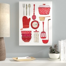 Ebern Designs 'Cook Kitchen II' Graphic Art Print on Wrapped Canvas EBRN1756