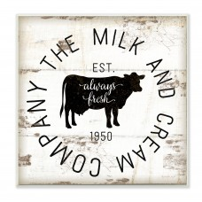 Gracie Oaks 'Milk and Cream Company Vintage Sign' Wall Art GRKS7484