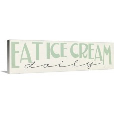 Great Big Canvas 'Eat Ice Cream' by Erin Deranja Textual Art GBCN8801
