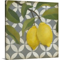 Great Big Canvas 'Fruit and Pattern I' Megan Meagher Graphic Art Print GRWO5528