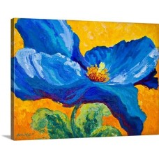 Great Big Canvas Blue Poppy by Marion Rose Painting Print on Wrapped Canvas GBCA1292