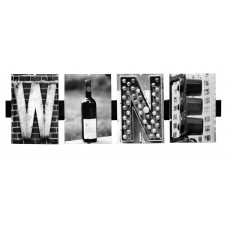 LanguageArt 'Wine' by Greg and Dilynn Puckett Textual Art in Black and White LGAG1011