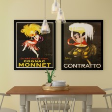Red Barrel Studio 'Cognac Monnet and Contratto' 2 Piece Framed Vintage Advertisement Set RDBA2343