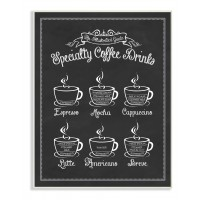 Stupell Industries Vintage Sign 'Specialty Coffee Drinks' Graphic Art Print VYH4061