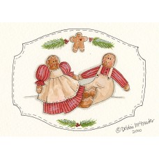 The Holiday Aisle 'Gingerbread Couple' Graphic Art Print FSUS7408