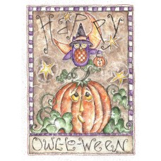 The Holiday Aisle 'Happy Owl O Ween' Print FMAE8274