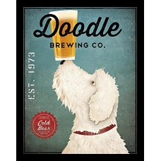 Winston Porter 'White Labradoodle Brewing Company' by Ryan Fowler Framed Vintage Advertisement WNPR8072