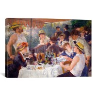 "iCanvas ""The Luncheon of the Boating Party 1881"" by Pierre-Auguste Renoir Painting Print on Wrapped Canvas IZN3000"