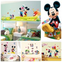 Caliente de Mickey Mouse Minnie mouse etiqueta de la pared cuarto de niños decoración diy mural vinilo removible wallpaper XY8126 ali-72498814