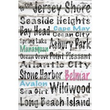 "Buy Art For Less ""To the Jersey Shore"" Textual Art on Wrapped Canvas BYAR2195"