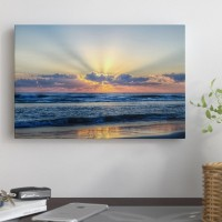 East Urban Home Radiant Dawn Photographic Print on Wrapped Canvas ESTP0930