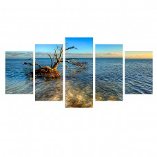 Ebern Designs 'Ocean View' 5 Piece Photographic Print on Wrapped Canvas Set EBDG2123