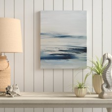 Highland Dunes 'Drifting Tides II' Oil Painting Print on Wrapped Canvas HIDN5054
