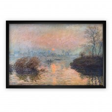Red Barrel Studio 'Rectangle Sunset on the Seine' by Claude Monet' Oil Painting Print RDBT2607